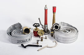 FIRE HOSES AND COUPLINGS, ALL TYPES, LENGHTS AND DIAMETERS.