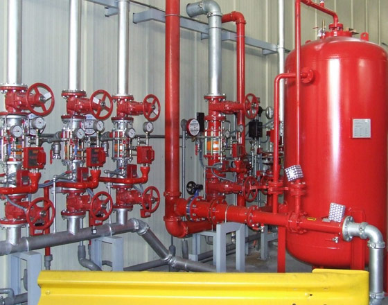 INSPECTION, MANTEINANCE AND REPAIR OF FIXED FIRE EXTINGUISHING SYSTEMS.
